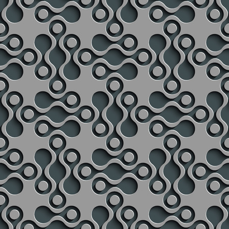 gray texture background: Seamless Damask Pattern. Curved Shapes Background. Gray Regular Texture
