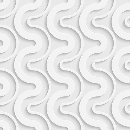 white wave: Seamless Wave Pattern. Vector Soft Background. Regular White Texture Illustration