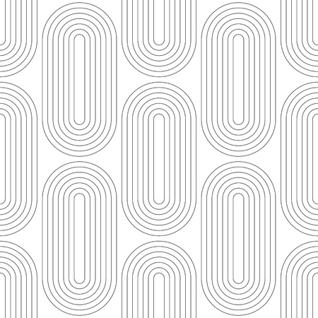 arte abstracto: Seamless Geometric Pattern. Vector Black and White Texture