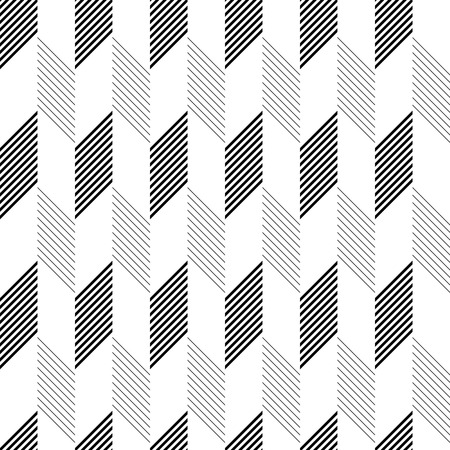 Seamless ZigZag Pattern. Abstract  Monochrome Background. Vector Regular Texture Vettoriali