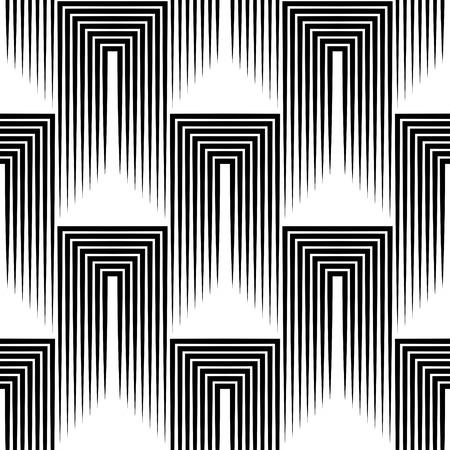 Naadloze Square en Streeppatroon. Abstracte zwart-wit achtergrond. Vector Regelmatige Texture Stock Illustratie