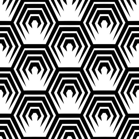 pattern geometric: Seamless Hexagon Pattern. Vector Monochrome Background