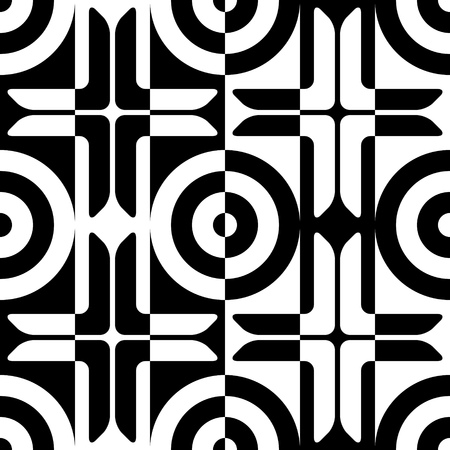 repeat structure: Seamless Grid Pattern. Vector Black and White Background. Regular Texture Illustration