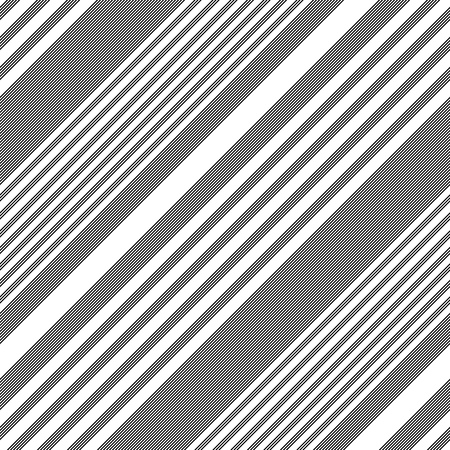 diagonal: Seamless Diagonal Stripe Pattern. Vector Black and White Background