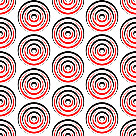 red line: Seamless Grid Pattern. Vector Black and Red Background. Regular Texture Illustration