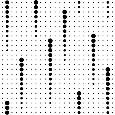 Motif Cercle Seamless. Vecteur noir et fond blanc Vecteurs