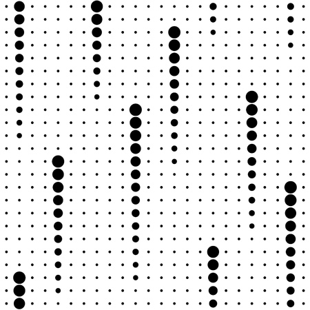 シームレスなサークル パターン。黒と白のベクトルの背景