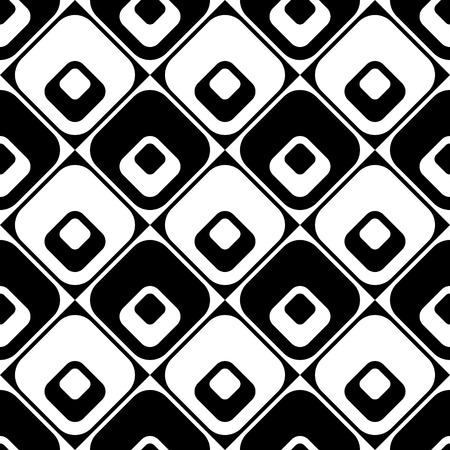 monochrome: Seamless Rhombus Pattern. Vector Monochrome Background