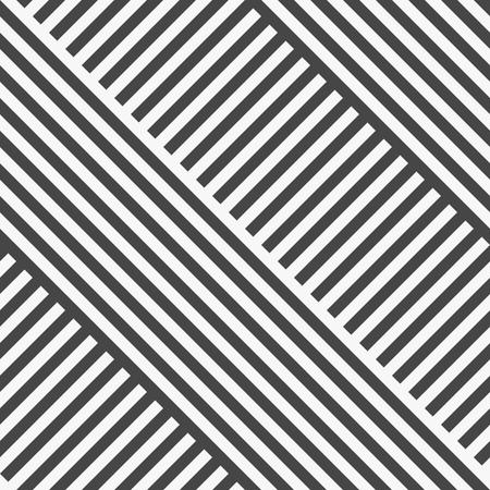 Naadloze Diagonale Streeppatroon. Vector Zwarte en witte achtergrond Stock Illustratie