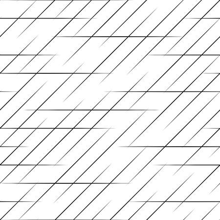 Seamless  Line Pattern. Vector Monochrome Texture Ilustracja