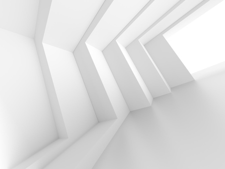 empty space: 3d White Empty Hall. Modern Architecture Background