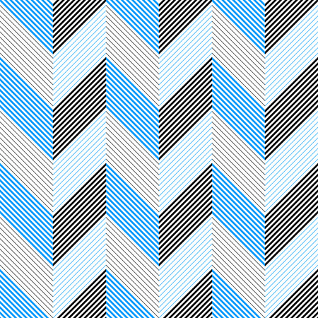 triangle pattern: Seamless ZigZag Pattern. Abstract  Black and Blue Background. Vector Regular Texture Illustration