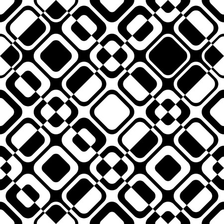 repeat structure: Seamless Square Pattern. Abstract Black and White Background. Vector Regular Texture