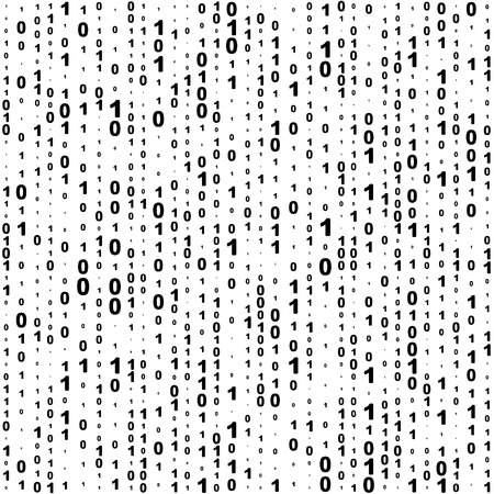 Sin fisuras de fondo de código binario. Vector blanco y negro de la textura