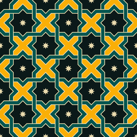 oriental ornament: Seamless Oriental Ornament. Abstract Arabic Background. Vector Islamic Pattern