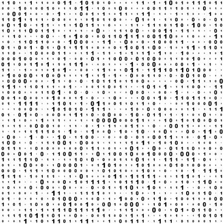 Seamless Background Code binaire. Vector Monochrome Texture Vecteurs