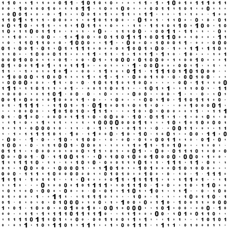 binary matrix: Seamless Binary Code Background. Vector Monochrome Texture