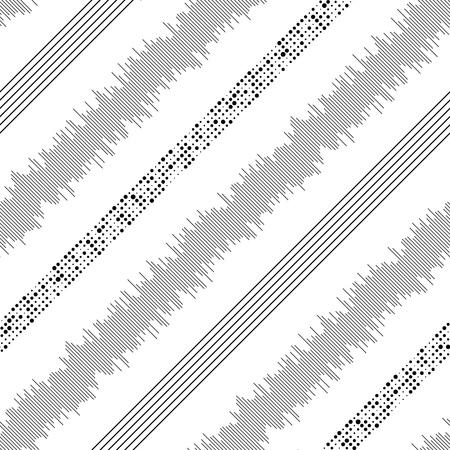 원활한 대각선 스트라이프 패턴입니다. 벡터 흑백 배경