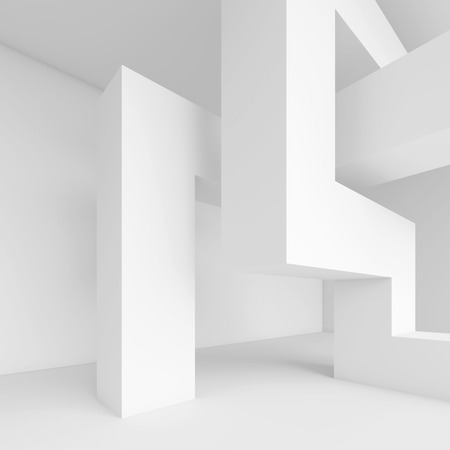 Abstract Interior Design. White Modern Background Imagens