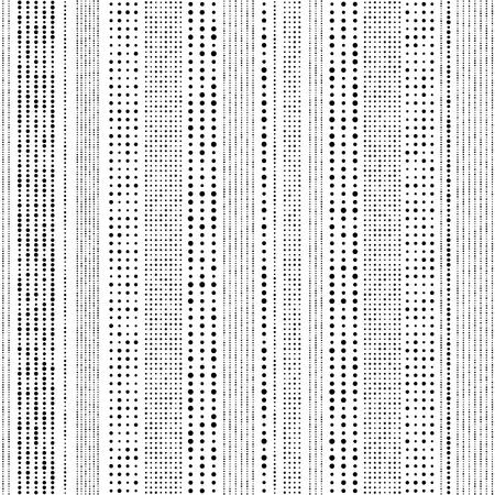 Seamless Stripe Pattern. Vector Monochrome Texture Vettoriali