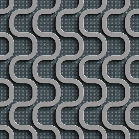 gray texture background: Seamless Wave Pattern. Curved Shapes Background. Regular Gray Texture Illustration