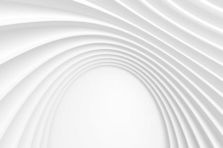3d Witte Moderne Architectuur Achtergrond