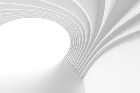 modern architecture: 3d White Arch Interior Design. Abstract Architecture Background Stock Photo