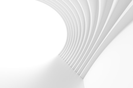 arch: Abstract Arch Interior. 3d White Background