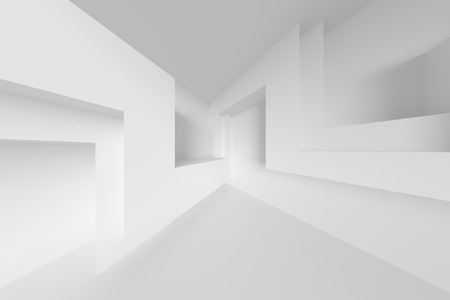 Abstract Interior Background. White Empty Room