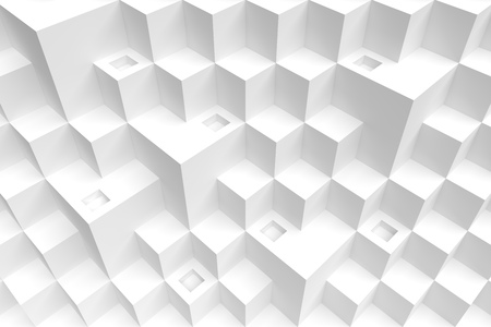 3d Abstract Geometric Background White Cube Wallpaper Stock Photo