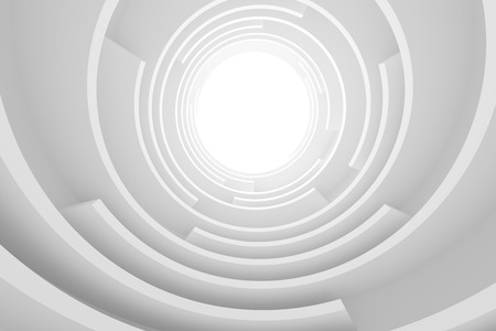 abstract building: Abstract Architecture Background. White Circular Building Stock Photo