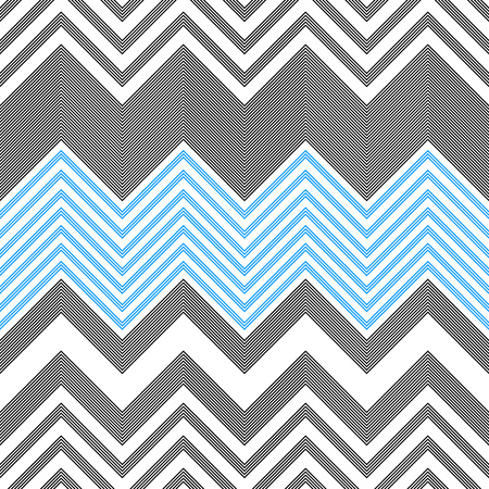 Seamless ZigZag Pattern. Abstract Background. Vector Regular Texture  イラスト・ベクター素材