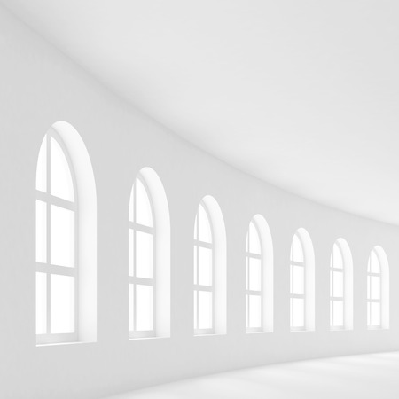 corporate office: Modern Interior Background. White Empty Hall