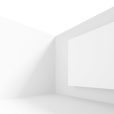 gallery interior: Abstract Gallery Interior. White Modern Background Stock Photo