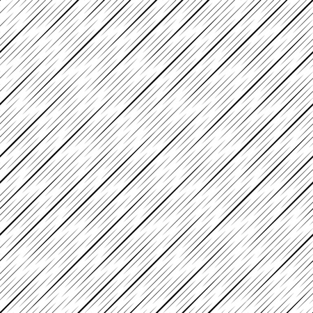 シームレスな斜めストライプ パターン。黒と白のベクトルの背景