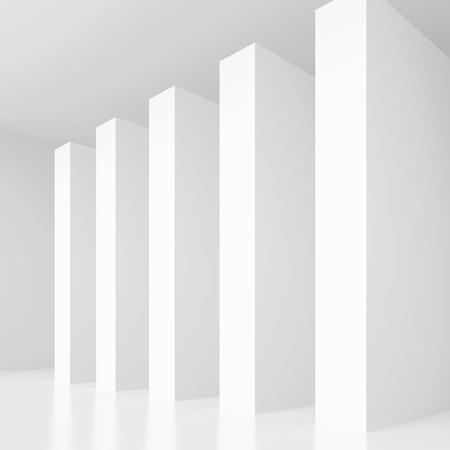modern interior: Column Interior Design. White Modern Background
