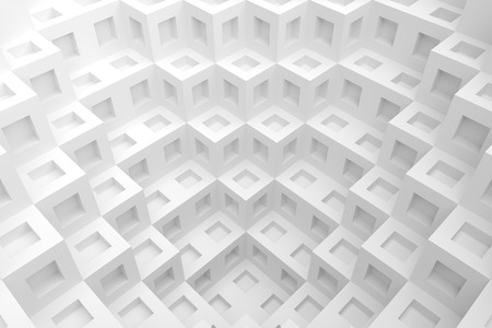 architecture design: 3d White Cube Background. Modern Architecture Design