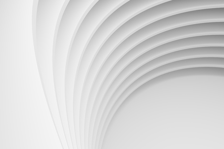 抽象的なアーキテクチャの背景。白い円形の建物