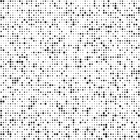 Seamless Circle Pattern. Vector Black and White Background Vettoriali