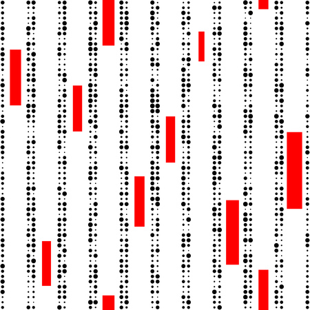 stripe: Seamless Vertical Stripe Pattern. Vector Black and Red Background Illustration