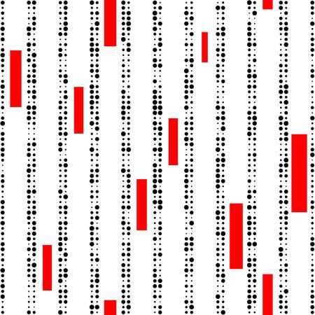 rayas de colores: Sin fisuras patrón de la raya vertical. Vector y Negro Fondo Rojo