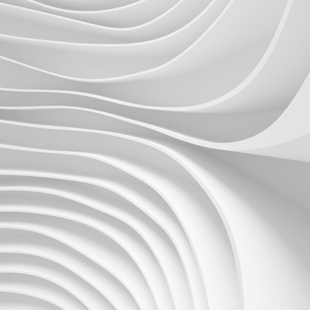 office chaos: 3d Rendering of White Abstract Background. Modern Minimal Design