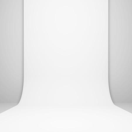 modern interior: 3d White Modern Interior Background