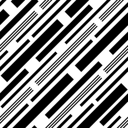 diagonal lines: Seamless Diagonal Stripe Pattern. Vector Black and White Background