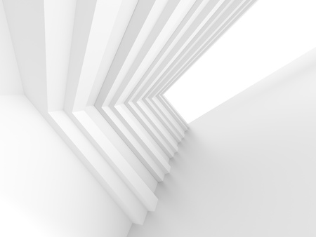 abstract building: 3d White Building Construction. Abstract Architecture Background
