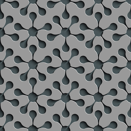 Seamless Flower Pattern. Vector Geometric Background