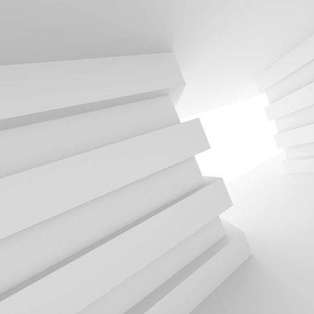 white abstract: Modern Interior Design. Abstract White Background. 3d Illustration Stock Photo