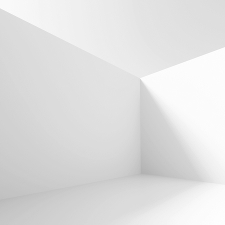 office construction: 3d Illustration of White Minimalistic Interior Background
