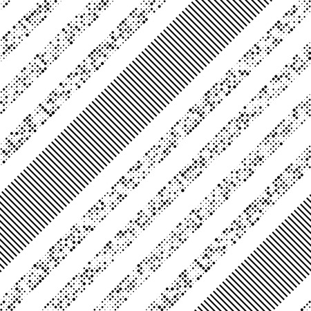 stripes seamless: Seamless Diagonal Stripe and Dot Pattern. Vector Black and White Background Illustration