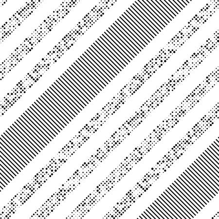 diagonal stripes: Seamless Diagonal Stripe and Dot Pattern. Vector Black and White Background Illustration